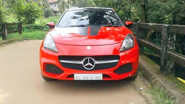 Kerala RTO Seize Dismantle Car Modified To Look Like A Mercedes Class